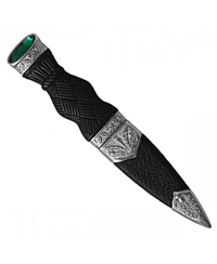 Sgian Dubh - Plain Handle with Stone Top