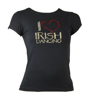 T-Shirt with �I Love Irish Dancing� motif  - Children