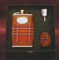 8 oz Hip flask with  4 glasses and a funnel