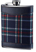 6oz Blue Tartan Hip Flask