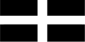 Cornwall (St Piran) 5'x3' Flag