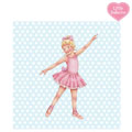 Little Ballerina Blue spot Melissa card