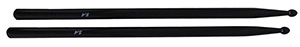 Drum Sticks Black in Maple Wood - 5A, Wood TipD