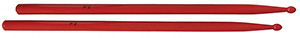 Drum Sticks Red in Maple Wood - 5A, Wood Tip