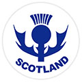 Scotland Thistle Round Sticker
