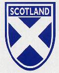 Scotland saltire shield