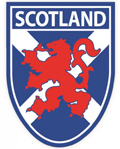 Saltire Rampant Lion Sticker